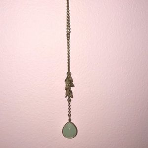 NWT J Crew Turquoise Teardrop Gold Plated Necklace